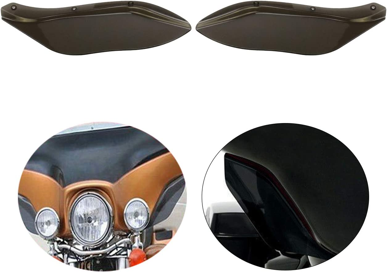 HDBUBALUS Side Wing Deflector Fairing Wind Deflectors Fit for Harley Harley Davidson Touring Electra Street Tri Glide CVO FLHX 1996-2013 Smoke