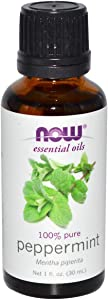Now Essential Oils, Peppermint Oil, Invigorating Aromatherapy Scent, Steam Distilled, 100% Pure, Vegan, 1-Ounce