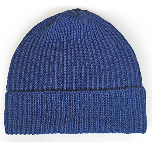 Ribbed Stocking Cap - 100% Alpaca Wool - Traditional Fisherman Style for Work or Fashion Unisex Durable All Weather Hat