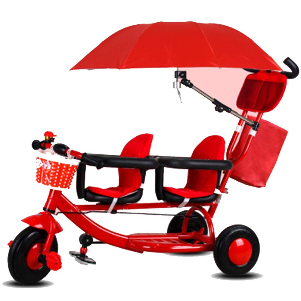 Triciclo gemelos YUMEIGE con parasoles