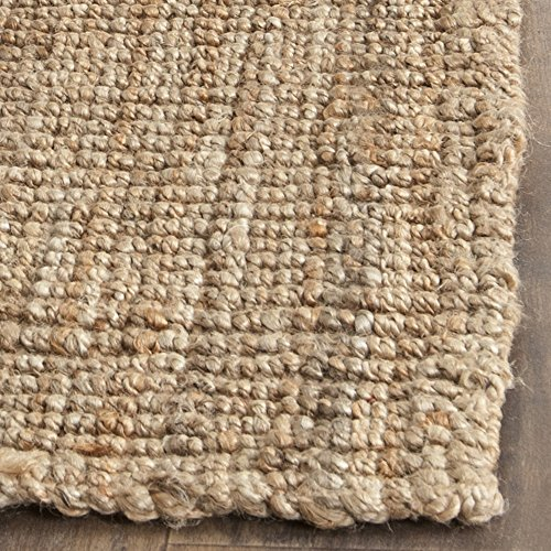 "Safavieh Natural Fiber Collection NF447A Hand Woven Natural Jute Runner (2'6"" x 22')"