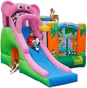 AJH Kids Clown Bouncer Bouncy Castle Children's Large Toys Indoor Home Inflatable Castle Children's Indoor Slide Playground
