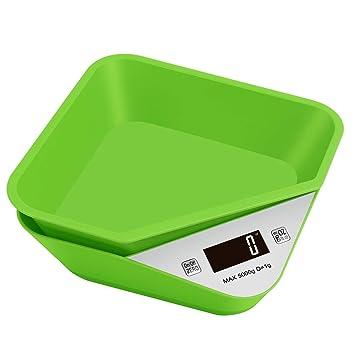 Brideal Báscula Digital de Cocina Báscula Multifuncional para Alimentos con Pantalla LCD con Recipiente Extraíble Máximo