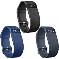 QGHXO Band for Fitbit Charge HR, Soft Silicone Adjustable Replacement Strap with Metal Buckle Clasp for Fitbit Charge HR Wireless Activity Fitness (No Tracker)