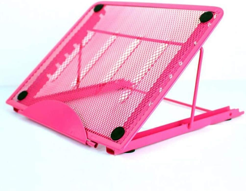 Portable Laptop Mesh Bracket Folding Adjustable Stand Cooling Heat Reduction Office Tablet Pad