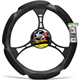 Big Ant Car Steering Wheel Cover (Black)- Air Mesh and Foam Padded Breathable Car Wheel Cover, Universal Fit 38 cm (15 inch)