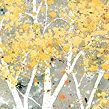 """Paperproducts Design """"Birch Trees"""" Paper Cocktail/Beverage Napkins, Yellow"""