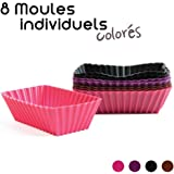 8 Moules à Cake Individuels Silicone