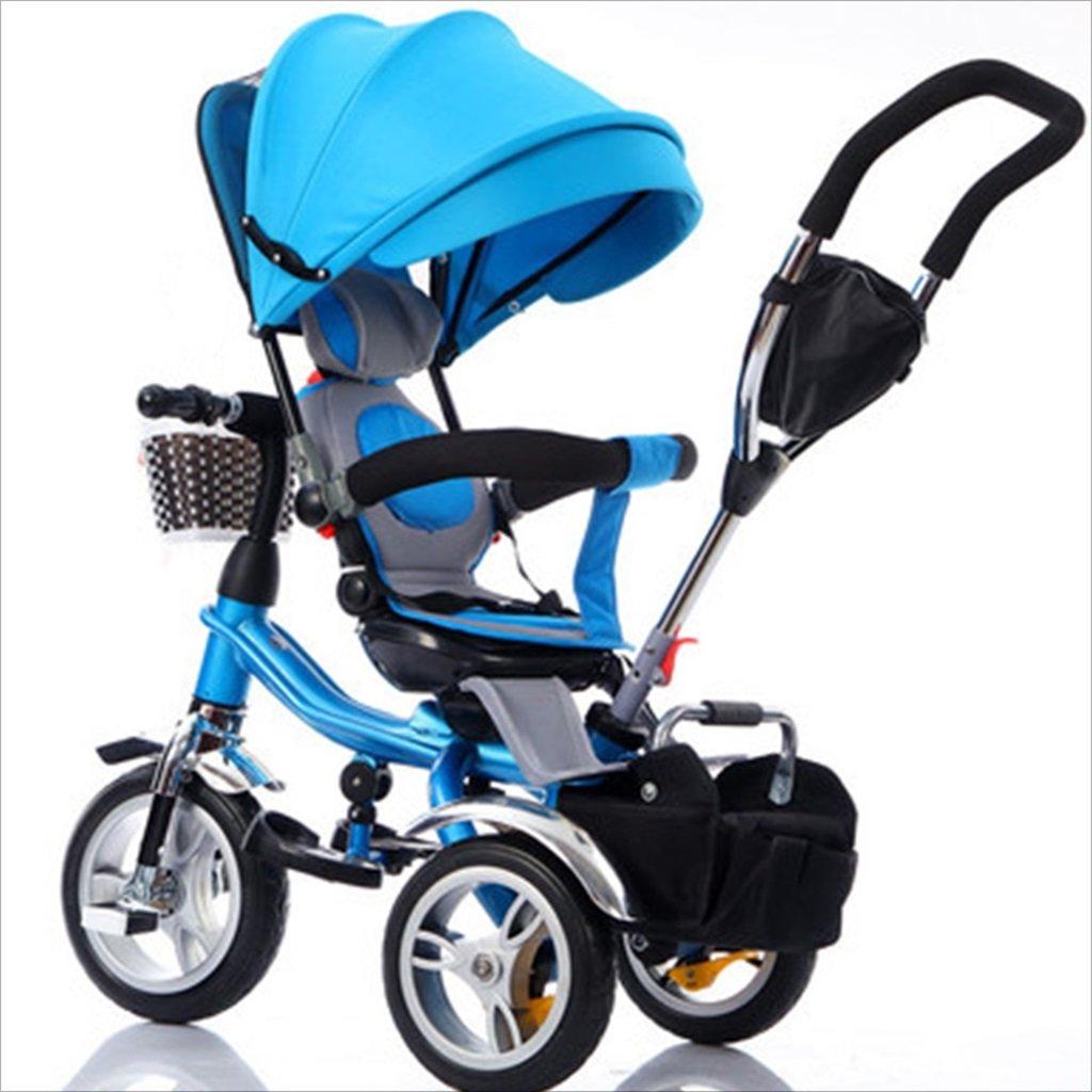 子供の屋内屋外の小さな三輪車自転車の男の子の自転車の自転車6ヶ月-5歳の赤ちゃんの3つのホイールトロリー目玉、泡のホイール/回転座席 (色 : 2) B07DVFBD3L 2 2