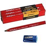 "Big Horn 19850 Carpenter's Pencil Sharpener & 7"" long x 9/16"" Wide Pencil Kit"