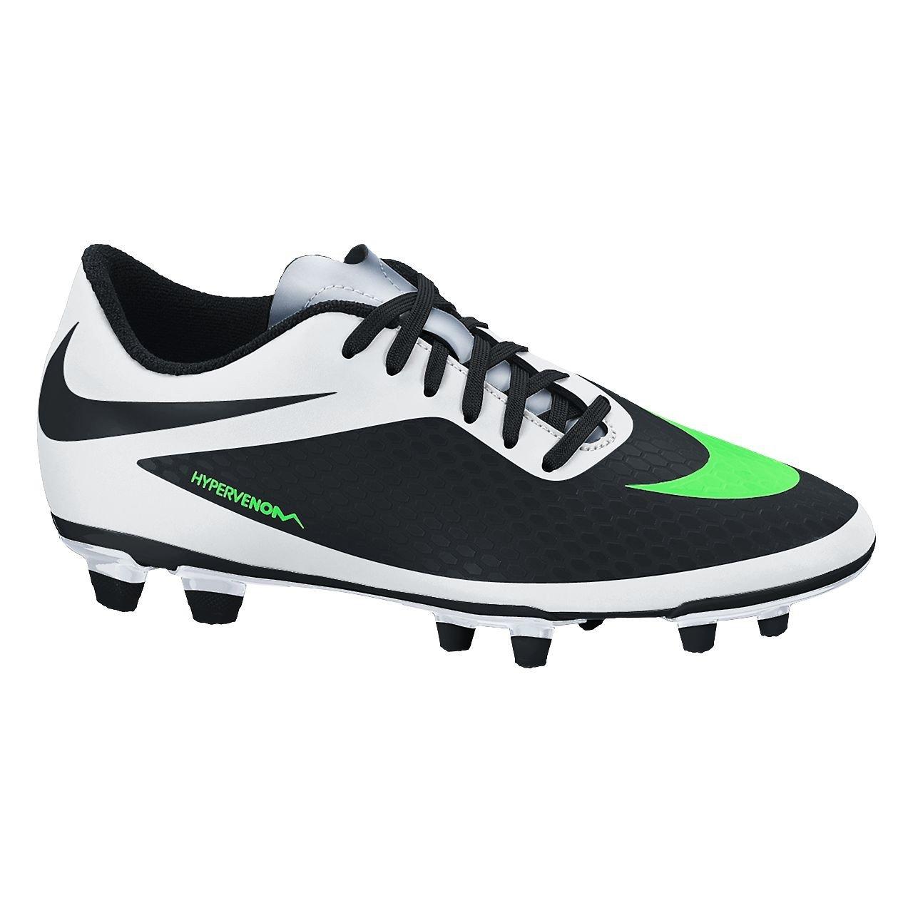 Nike Hypervenom Phade FG Herren Fuszlig;ballschuhe  12 schwarz/gr眉n/wei?/silber (black/n lime-white-mtllc slvr)
