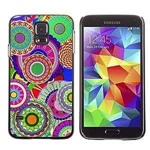 Be Good Phone Accessory // Dura Cáscara cubierta Protectora Caso Carcasa Funda de Protección para Samsung Galaxy S5 SM-G900 // Colorful Pattern Art Wallpaper Psychedelic