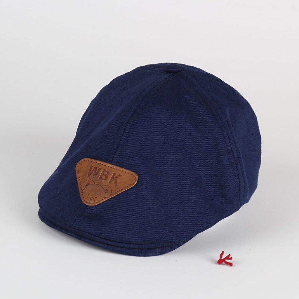 MB-LANHUA Niños Bebé Niño Niño Sombrero para el Sol Boina de algodón Gorro de Verano Gorra de béisbol Moda Azul Marino