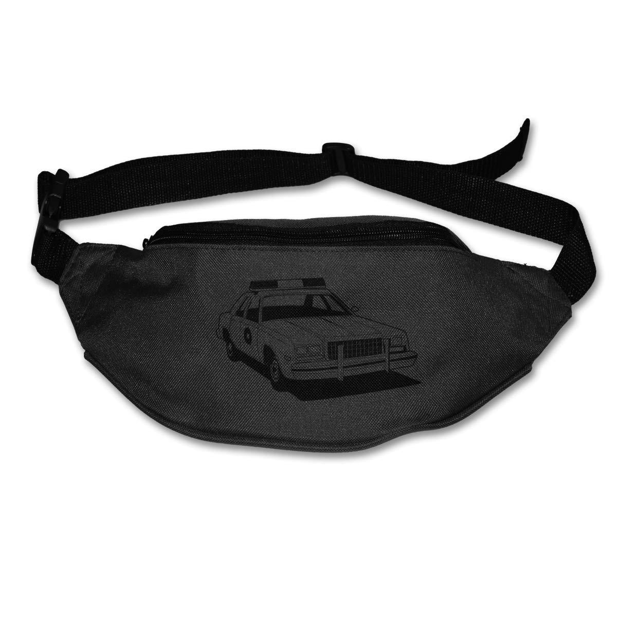 Black Police Cars Sport Waist Packs Fanny Pack Adjustable For Run
