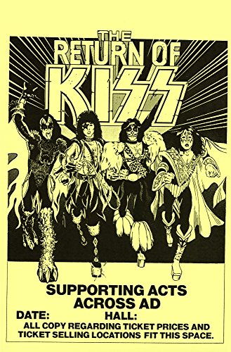 Kiss The Return of Kiss Live 1979 Retro Art Print — Poster Size — Print of Retro Concert Poster — Features Paul Stanley, Gene Simmons, Ace Frehley and Peter Criss.
