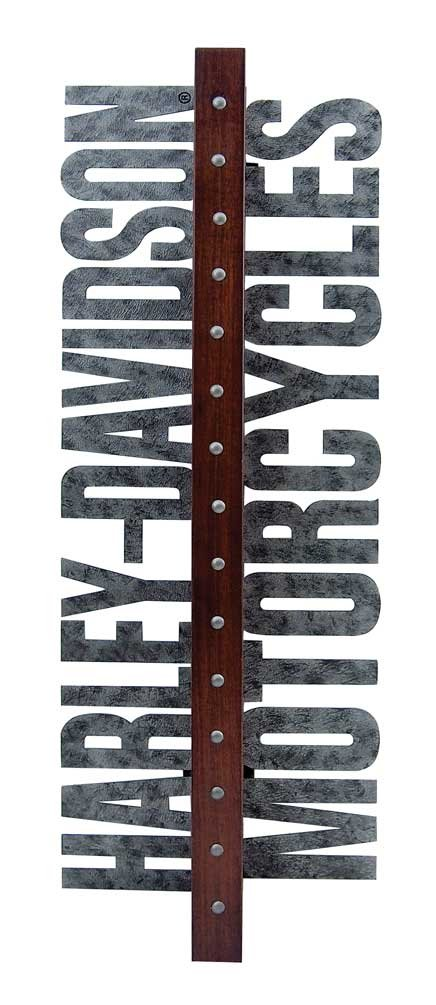 Harley-Davidson Laser Cut Metal Motorcycle Wooden Wine Rack, Brown HDL-18565