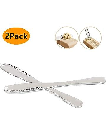 Cuchillo de mantequilla 3 en 1, multifunción, rizador de mantequilla de acero inoxidable y