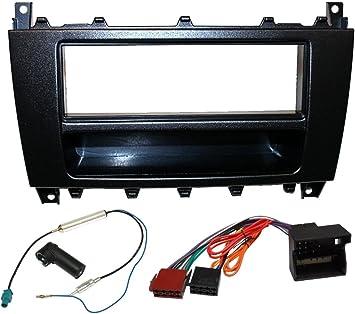 Adaptateur Fa/çade Cadre R/éducteur 1 et 2DIN moulage cache en plastique pour remplacer changer monter autoradio dorigine par un radio standard de voiture auto AERZETIX