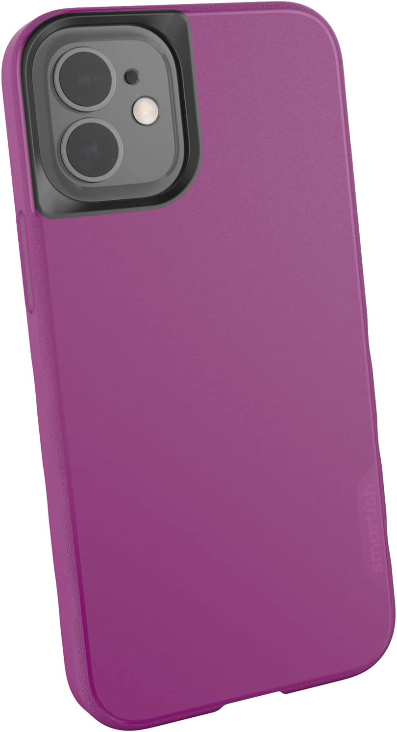 Smartish iPhone 12 Mini Slim Case - Kung Fu Grip [Lightweight + Protective] Thin Cover (Silk) - Purple Reign
