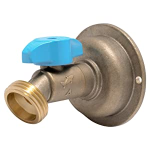 SharkBite 24630LFA Hose Bibb 45 Degree, 1/2 Inch x 3/4 inch Water Valve Shut Off, Quarter Turn, MHT, No Kink, Push-to-Connect, PEX, Copper, CPVC, PE-RT