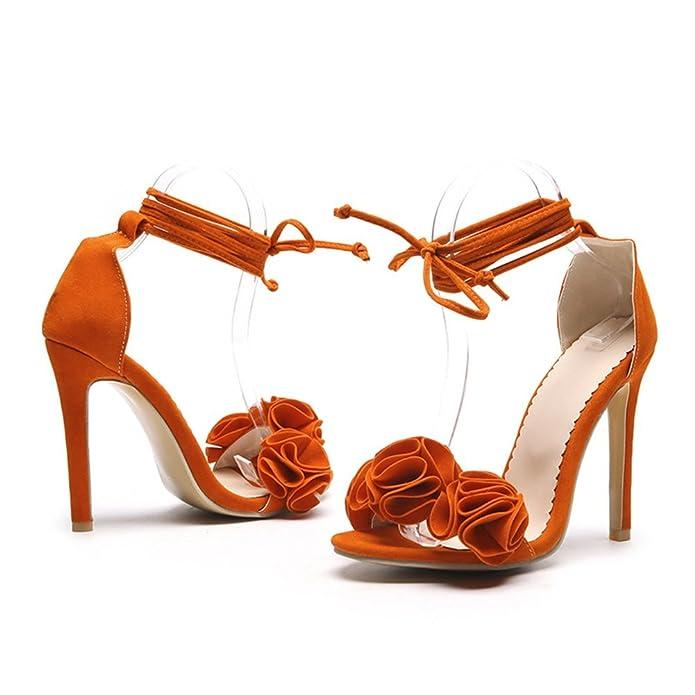 f28cc590 Zapatos de Mujer PU 2018 Nuevo Sexy tacón Fino Ultra Alto talón de Gran  tamaño Código 34-52 Zapatos Open Toe Ladies Boda/Fiesta y Noche Sandalias  de Verano ...