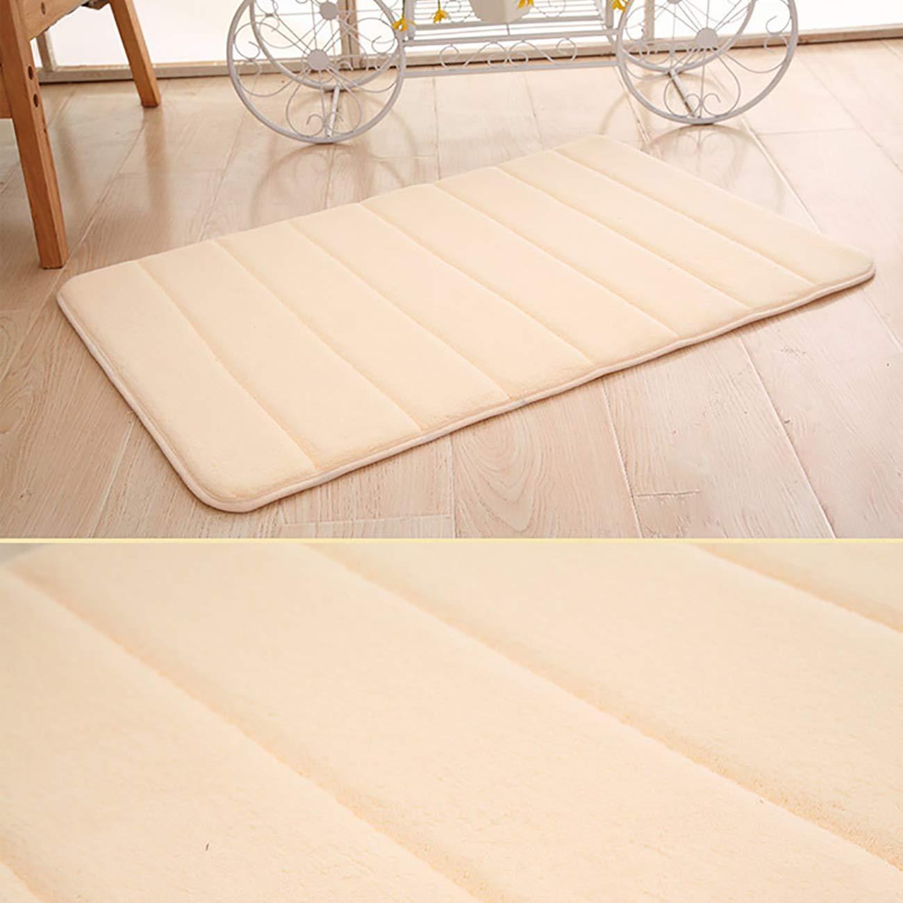 ShiyiUP Thee Alfombra de Ba/ño de Terciopelo de Coral Cream 40x60cm