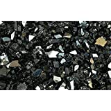 """Fire Glass for Fire Pits Black 1/4"""" for Reflective Glass Pellets (20Lbs)"""