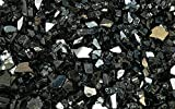Cheap Fire Glass for Fire Pits Black 1/4″ for Reflective Glass Pellets (20Lbs)