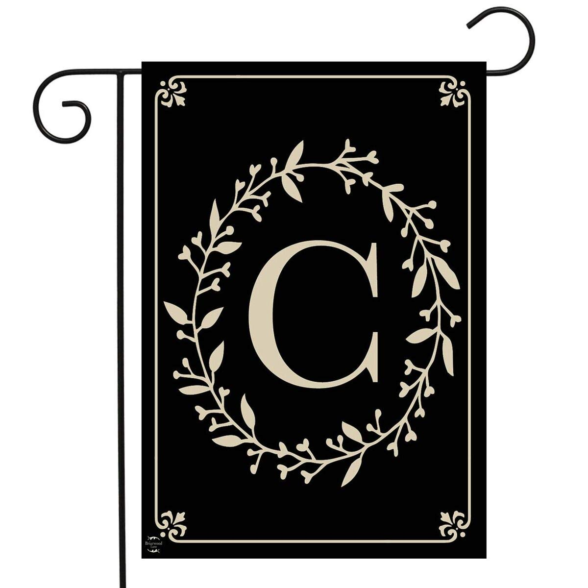"Briarwood Lane Classic Monogram Letter C Garden Flag Everyday 12.5"" x 18"""
