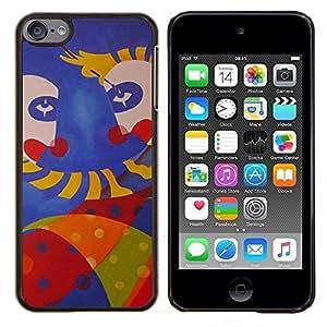 TECHCASE---Cubierta de la caja de protección para la piel dura ** Apple iPod Touch 6 6th Touch6 ** --cara de mono