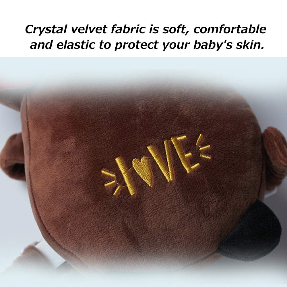 Bedside guardrail Portable Baby Pillow, Baby Child Anti-Collision Crystal Velvet Breathable Head Protection Pad Learning Walking Back Bumper, Suitable for Children 5 Months - 2 Years Old by Bedside guardrail (Image #7)