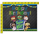 Super Why Birthday Edible Frosting Image 1/4 sheet Cake Topper