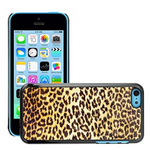 Premio Sottile Slim Cassa Custodia Case Cover Shell // V00002751 motif léopard // Apple iPhone 5C