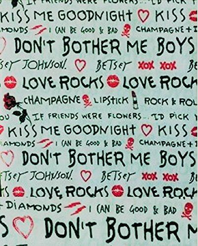 Betsey Johnson Pink Flower (Betsey Johnson 3 PC Twin Sheet Bedding Set Love Rocks)