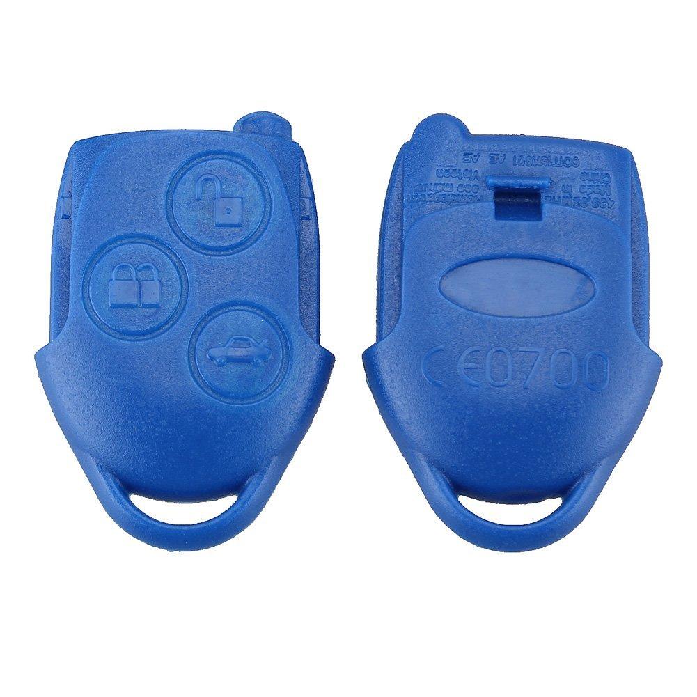 bacai 3 boutons t/él/écommand/é Entr/ée Coque de cl/é t/él/écommande pour Ford Transit /& Connecteur Bleu