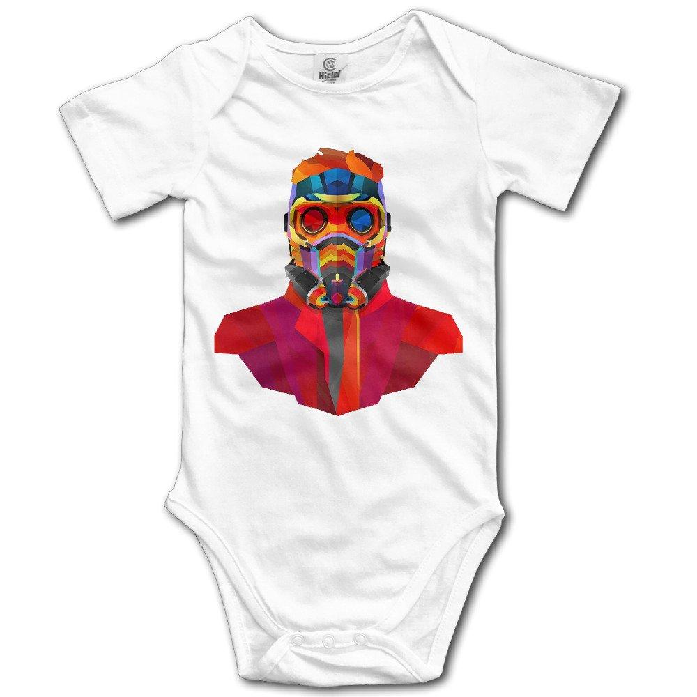 SAMMOI Guardians Of The Galaxy Baby Triangle Romper Bodysuit Jumpsuit Onesie White