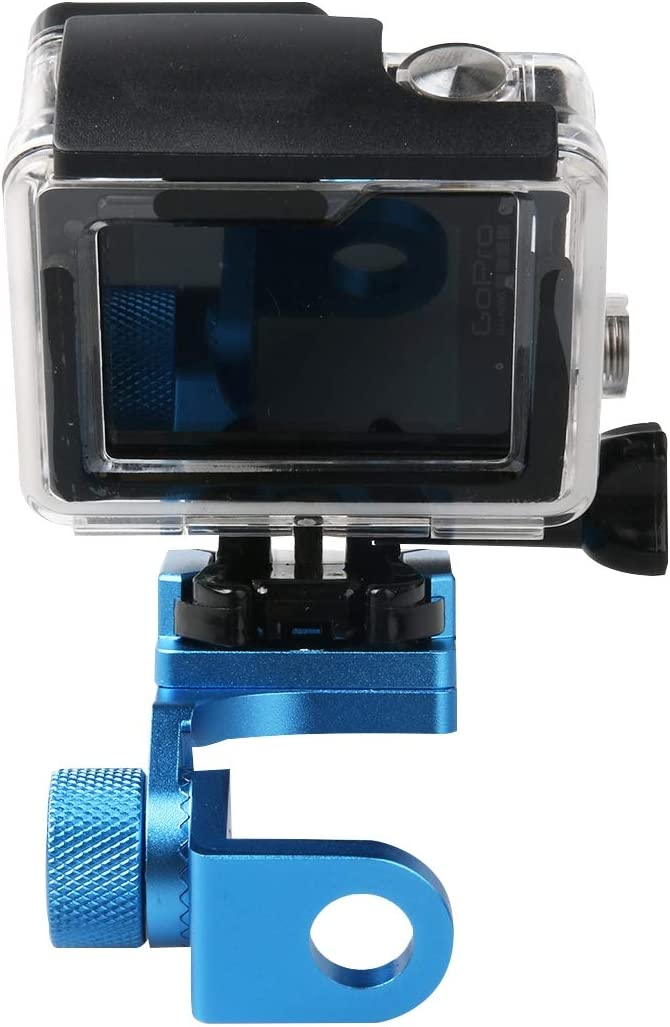 Color : Blue SJCAM Camera Wyanlin Xiaomi Xiaoyi Black Wyanlin Motorcycle Rearview Mirror CNC Aluminum Alloy Stent Fixed Bracket Holder for GoPro New Hero //HERO6 // 5//5 Session //4//3+ //3//2 //1