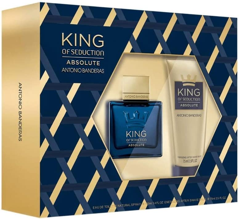 Banner Kit masculino Antonio Banderas King of Seduction Absolute EDT + Pós-Barba