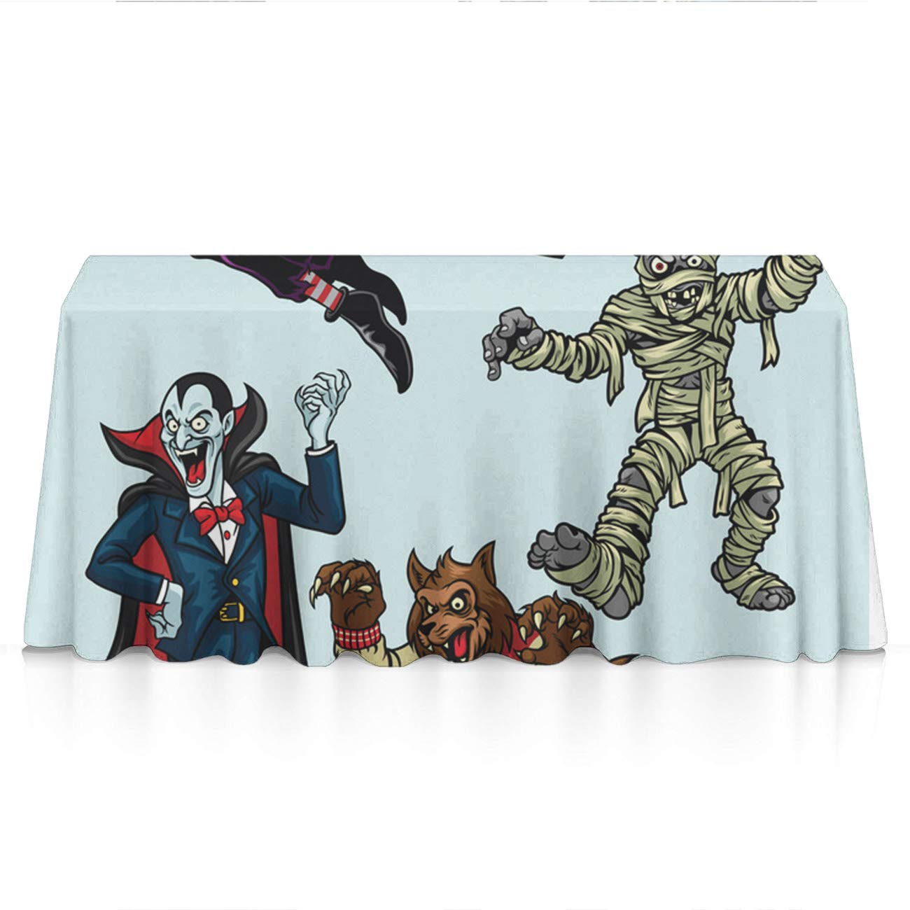 KYWYN Happy Halloween Party Premium Tablecloths Home Decor Extra Large Rectangle Tablecloth Tapestry 60x84 inch, Perfect for Buffet Table, Parties, Patio, Holiday Dinner, Wedding,Picnic