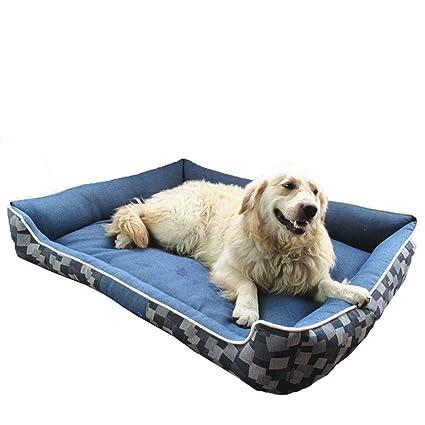 Gleecare Dril de algodón de la Perrera de Gato Nido Completo Lavable Perro Cama Mat Grande