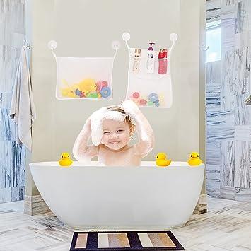 Bath Toy Organizer, Tinabless Perfect Net For Bathtub Toys U0026 Bathroom  Storage   2 X