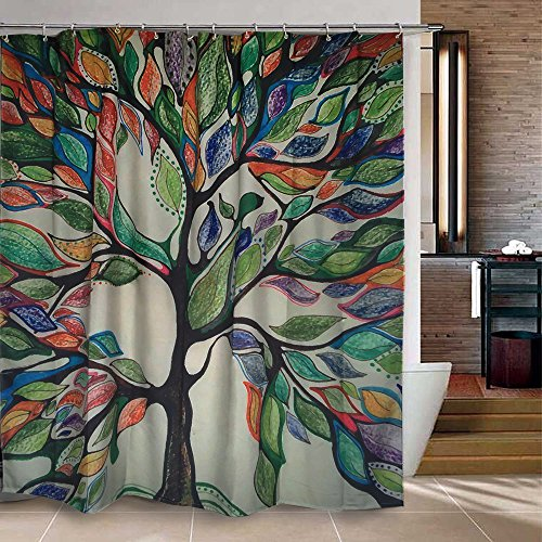 Uphome Colorful Gorgeous Feather Bathroom