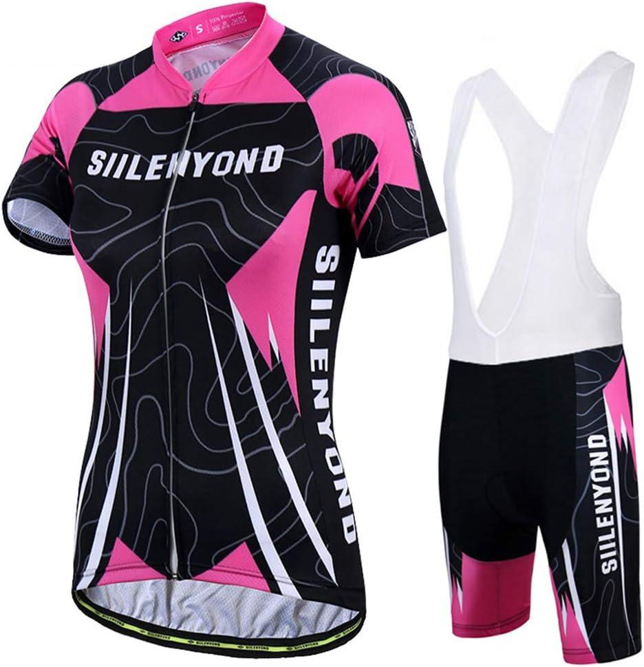 TZTED Ropa Ciclismo Verano para Mujer Culote Pantalones Acolchado ...