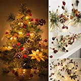 Christmas Best Gift!!!Kacowpper Christmas Tree Strings Lights Fairy Pine Cone LED Garland Xmas Party Home Decors