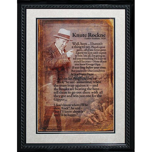 Steiner Sports NFL Notre Dame Fighting Irish Knute Rockne Framed Speech Collage Photo by Steiner Sports