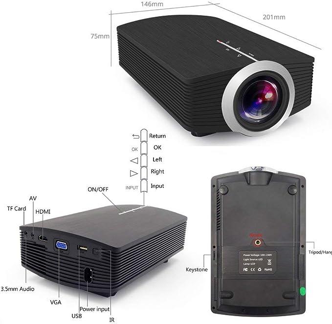 Juonjee Proyectores proyector de Cine en casa LCD Altavoz bajo ...