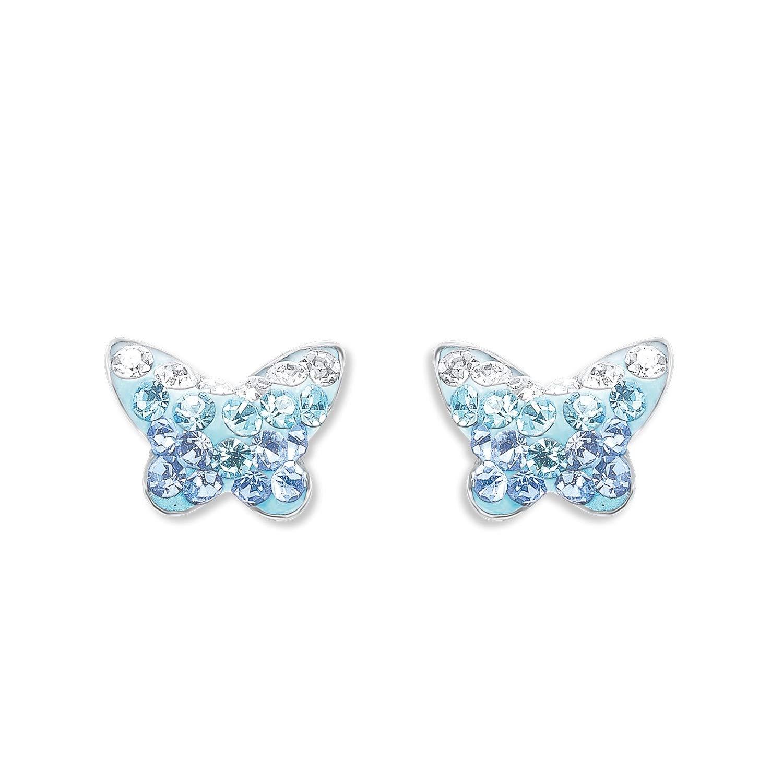 NEU Exklusiver Schmetterlings Anhänger Echt 925 Sterling Silber Strass Zirkonia