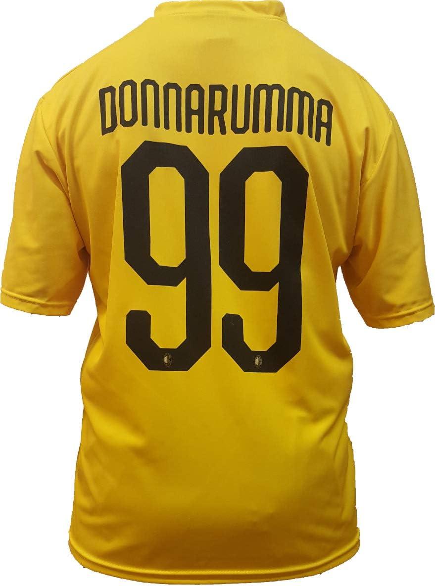 Camiseta Jersey Futbol A.C. Milan Gianluigi Donnarumma Replica Oficial Autorizado 2018-2019 Niños (2,4,6,8,10,12 año) Adultos (Small, Medium, Large, Xlarge) (Talla 4 Años): Amazon.es: Deportes y aire libre