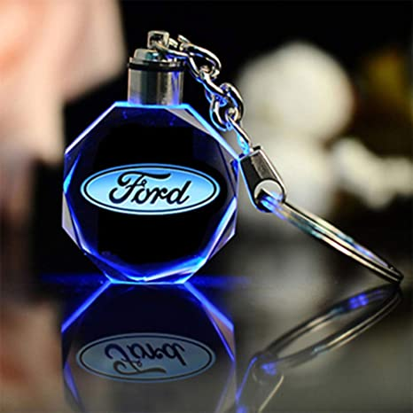 Amazon.com: Fitracker LED Ford Keychain Crystal Light ...