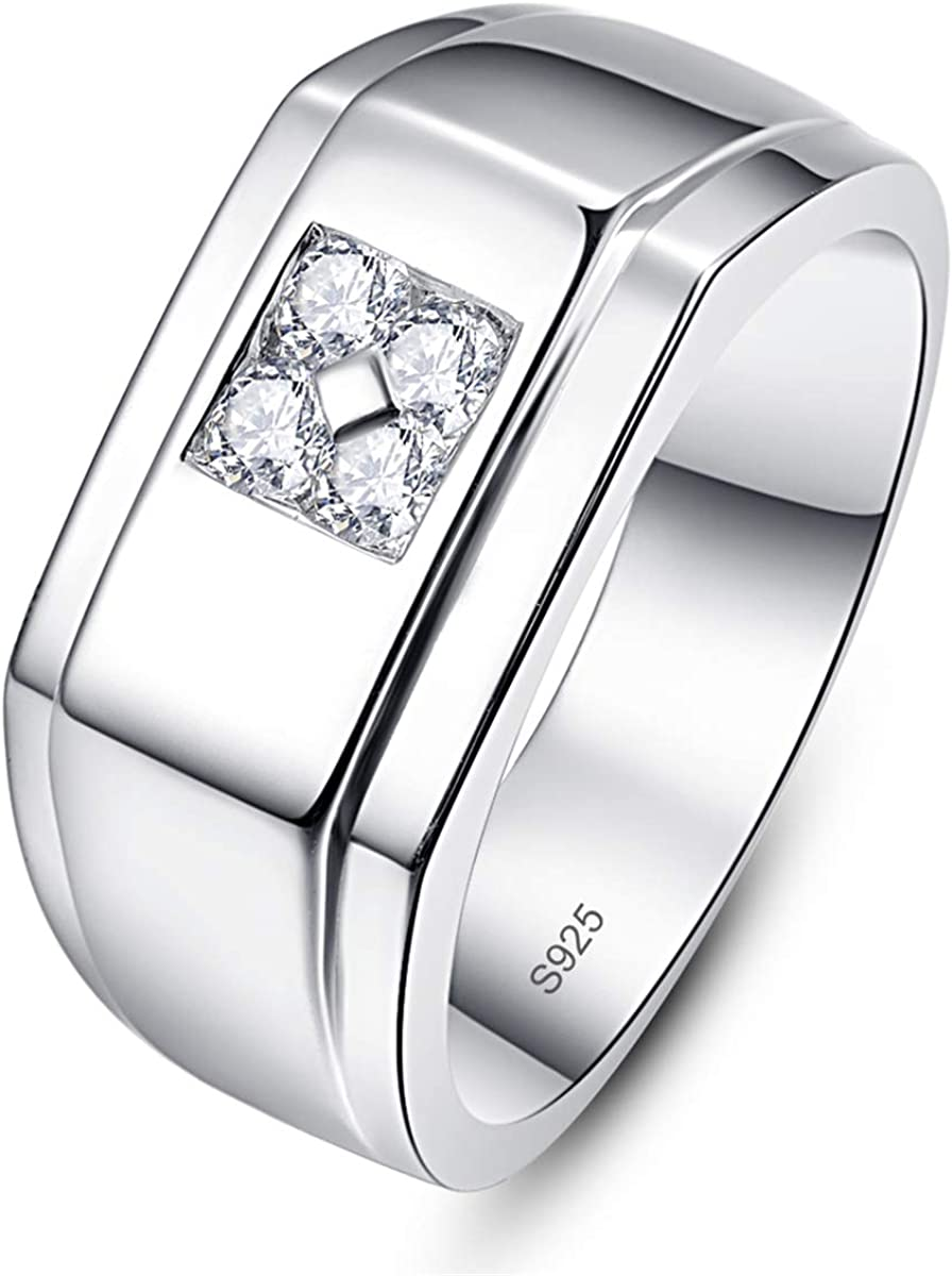 Wedding Band Plain Ring Sterling Silver 925 Best Jewelry Gift Width 10MM Size 10